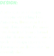 design: A strong sense of design underpins everything I do. Animation, Illustration & the many album covers I've made have benefited from a formal graphic design education and a wealth of design experience. If you need an all-rounder, I'm certainly that.